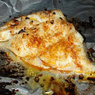 Easy Broiled Garlic Turbot Fillets