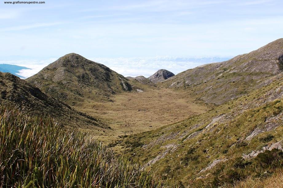 Trilha do Paiolinho - Pedra da Mina - O lindo Vale do Ruah com o Rio Verde no centro.