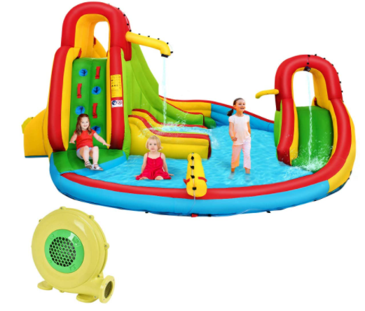 3. Costzon Inflatable 7-In-1 Inflatable Water Slide Park