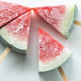 Frozen Watermelon Popsicles.