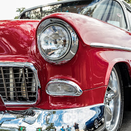 57 Chevy by Don Young - Transportation Automobiles ( chevy, red, classic, chevrolet, color, custom, classic car, bel air,  )