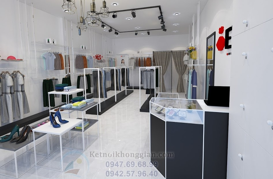 thiết kế shop quần áo cao cấp