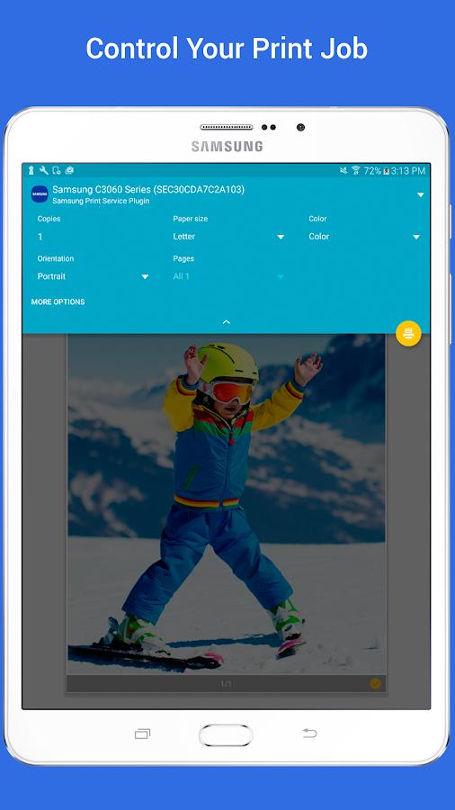 Screenshots of Samsung Print Service Plugin for iPhone