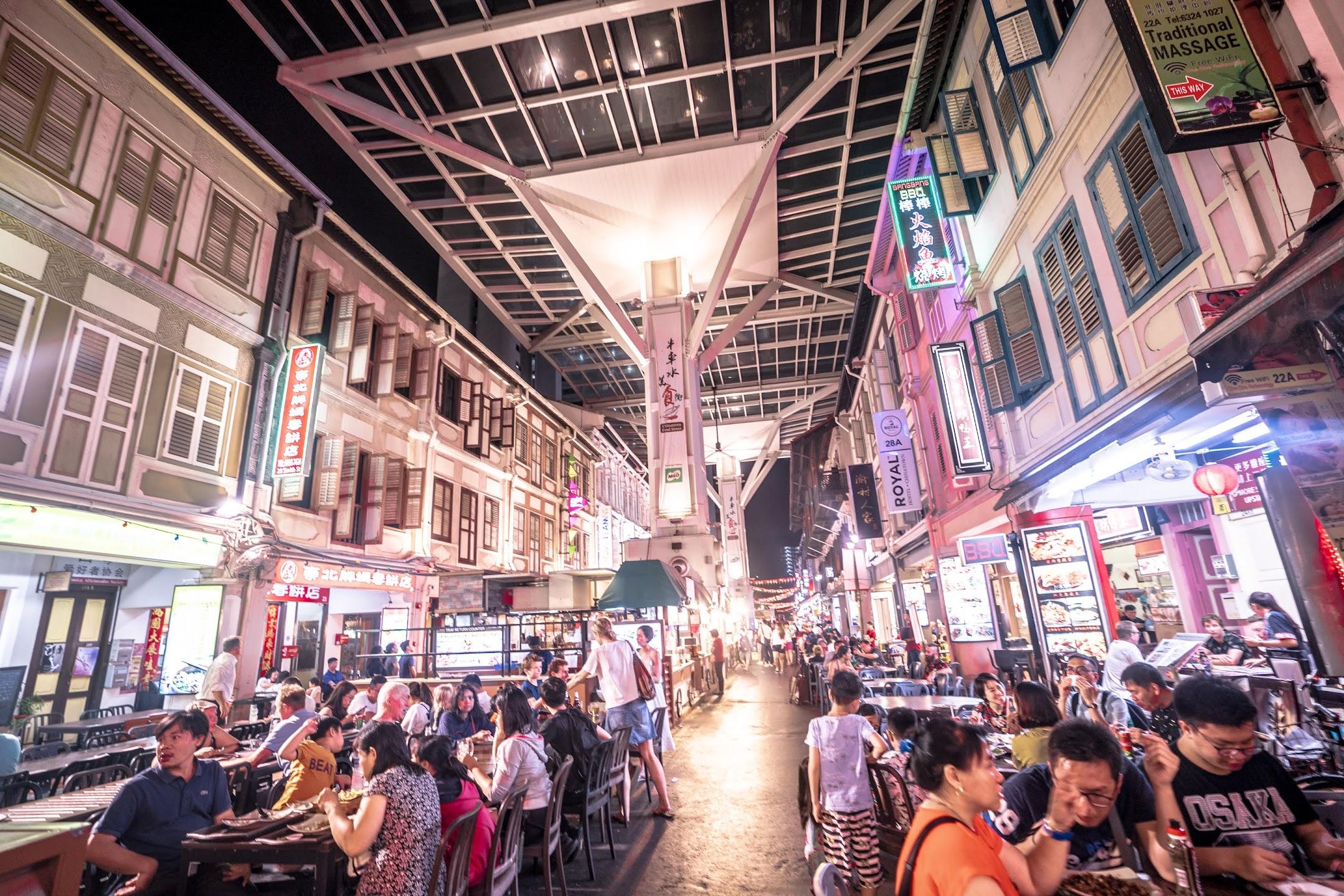シンガポール Chinatown Food Street3