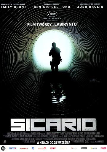 Przód ulotki filmu 'Sicario'