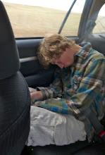 Photo: Eric wasn't very good company on the way home. :)