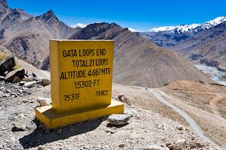 Photo: At the top of the Gata Loops, Manali-Leh Highway, Ladakh, Indian Himalayas