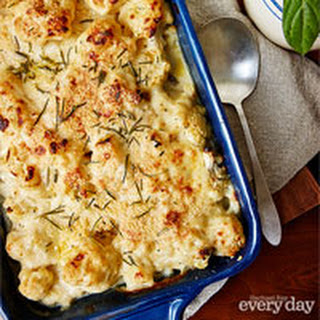 Cauliflower with Rosemary au Gratin.
