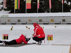 Photo: im Biathlonzentrum Antholz: Schießanlage