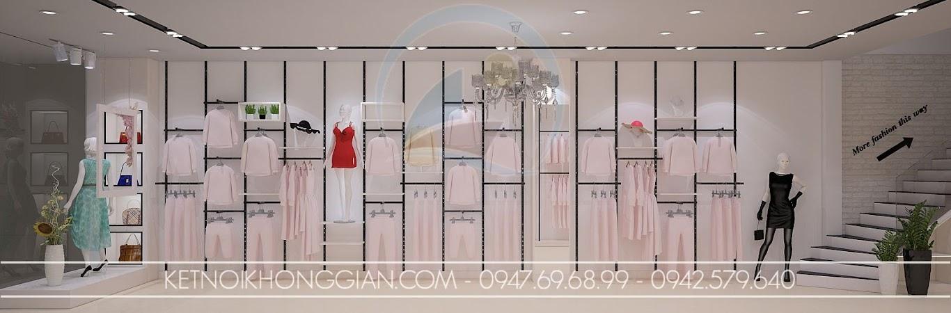 thiết kế shop thời trang nữ gọn gàng