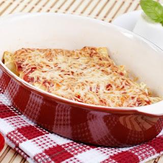 Cream Cheese, Mozzarella, And Parmesan Manicotti