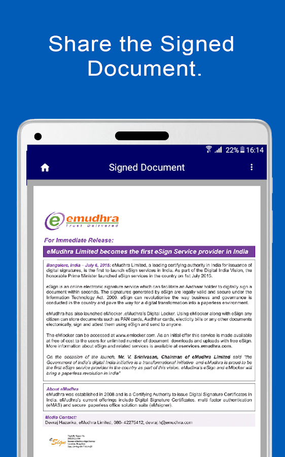 eSign PDF- screenshot