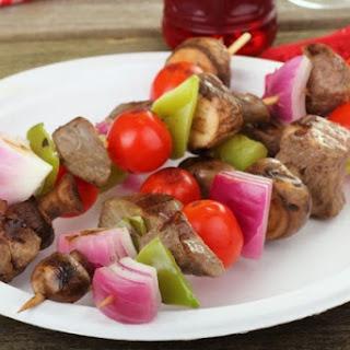 Marinated Beef Kabobs.