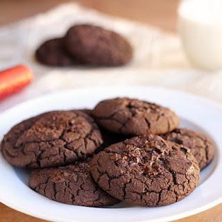 Fudgy Double Dark Chocolate Black Bean Cookies (Vegan, GF)