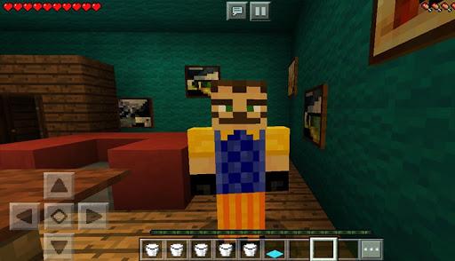 Maps Hello Scary Neighbor For Minecraft 1.2 screenshots 2