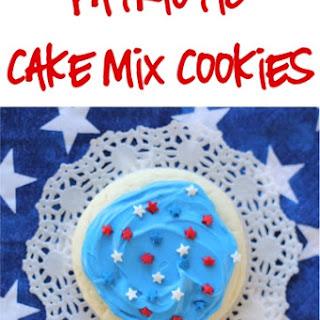 Patriotic Cake Mix Cookies