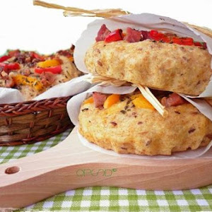 Tartlets Kamut and Farro With Raw Peppers