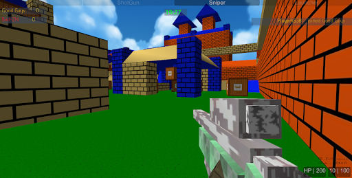 shooting zombie blocky gun warfare screenshot 2
