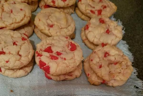 These Cookies Made With Cherry Chips Because I Was Out Of Chocolate Chips.