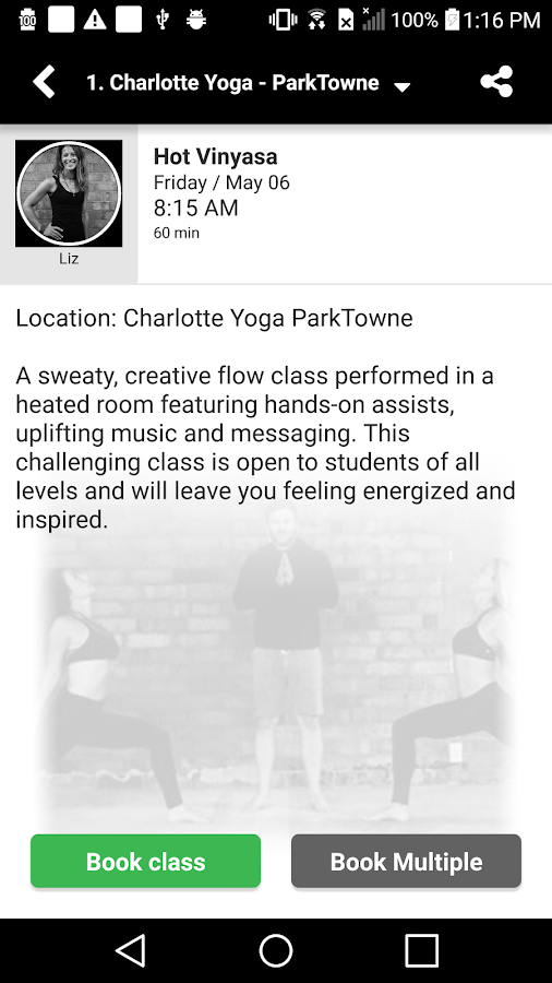 Charlotte Yoga- screenshot