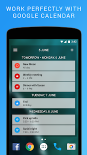 Calendar Widget: Agenda Screenshot