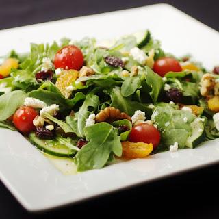 Baby Arugula Salad with White Balsamic Pear Vinaigrette