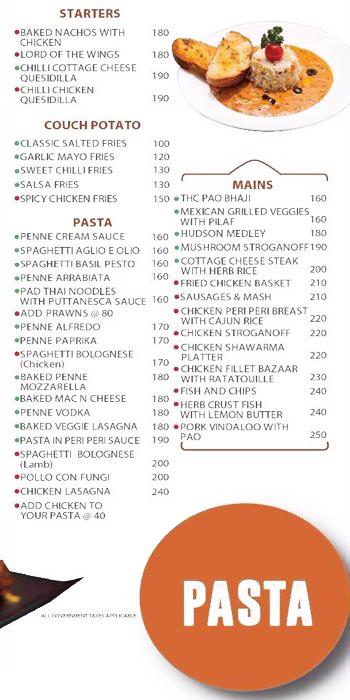 Hudson Cafe menu 2