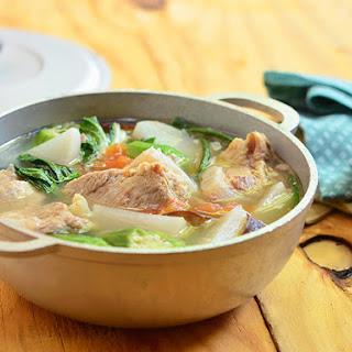 Sinigang na Baboy (Pork Ribs Sour Soup).