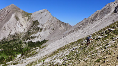 Photo: Beast mode - up from the trail to another pass