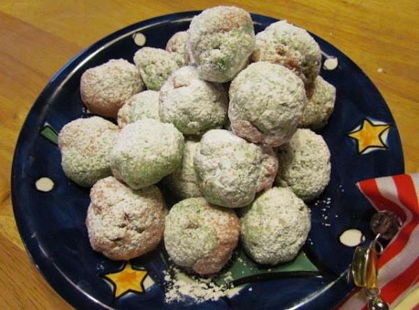 While still warm dust with a little powdered sugar.  When they are completely cool dust...