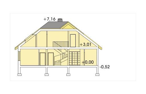 Akacja II wersja A bez garażu - Przekrój