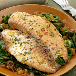 Broiled Tilapia with Sauteed Escarole.