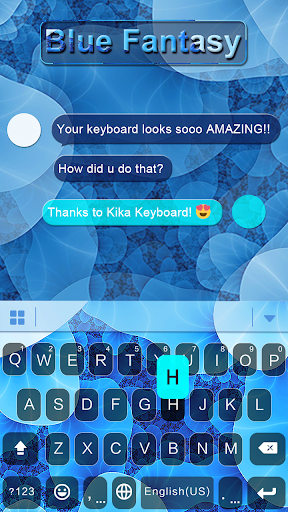 Blue Fantasy iKeyboard Theme