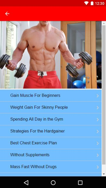 How to Gain Muscle- screenshot