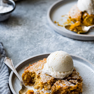 Maple Pumpkin Pudding Chômeur {gluten-free, dairy-free option}.