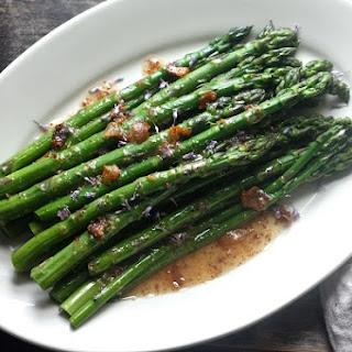 Asparagus with Pancetta and Apple Cider Vinaigrette
