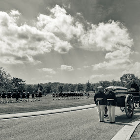 Arlington National Cemetery Funeral by T.J. Wolsos - News & Events US Events ( arlington national cemetery, black and white, funeral, virginia )