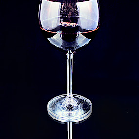 A Lil Vino by Ted Anderson - Food & Drink Alcohol & Drinks ( wine, reflection, hdr, glass, stem )