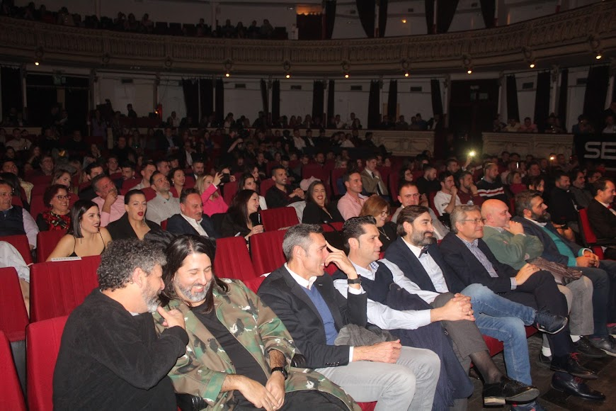 Asistentes a la gala de los Premios de la Noche Almeriense que acogió el Teatro Cervantes.