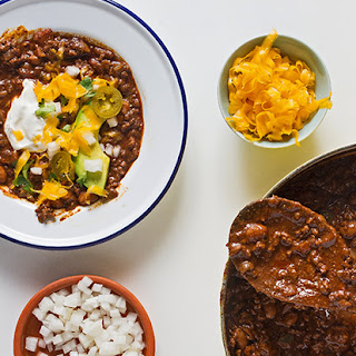 Beef Chili with Pancetta, Ancho and Chocolate.