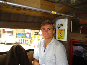 Photo: In the Chiang Mai taxi (aka truck with seats and roof)