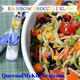 Rainbow Broccoli Slaw