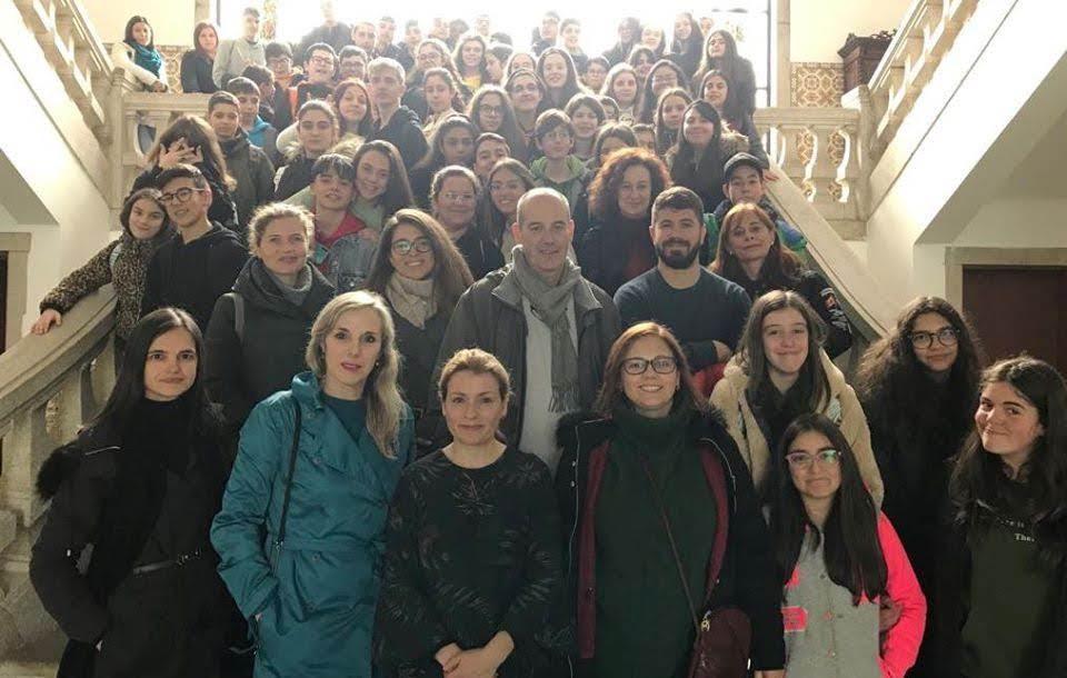 Projeto Erasmus + recebido no Salão Nobre