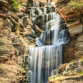 DOGWOOD CANYON FALLS by Dana Johnson - Landscapes Waterscapes ( canyon, waterfalls, falls, waterscape, cascade, landscape )