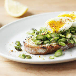 Asparagus, Soft-Boiled Egg, and Dukkah Tartine