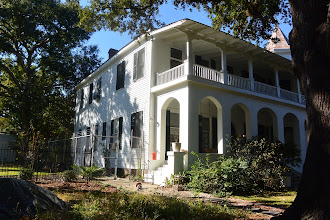 Photo: The south side of the house.  I was told that the high steps to the porch at this side allowed aiighting from a carriage