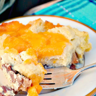 Cheesy Overnight Ham Egg Casserole Recipe