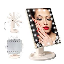 Oglinda cosmetica iluminata cu touch si rotire