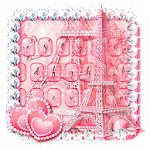 Pink Paris Keyboard Theme Icon