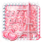 Pink Paris Keyboard Theme